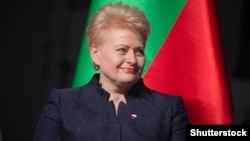"Lithuanian President Dalia Grybauskaite says ""no one has the right to threaten"" us."