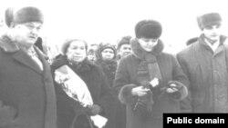 Дочь Ивана Петрова Клара Ивановна на мероприятии по случаю 100-летия отца. 1993 год