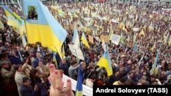 Київ, 30 вересня 1990 року. Мітинг, на якому закликали до виходу України зі складу СРСР
