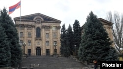 The Armenian parliament building in Yerevan