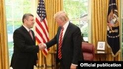 Президент США ДональдТрамп принял в Белом доме премьер-министра Грузии Георгия Квирикашвили