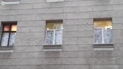 Вікна харківської міліції обклали мішками