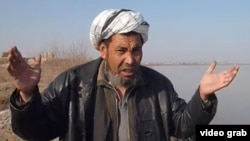 The seemingly inexorable southern advance of the Amu-Darya river has caused all sorts of problems for Afghan villagers like Ghulam Rasool. (screen grab)