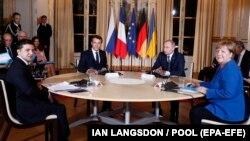 Ֆրանսիայի, Գերմանիայի, Ռուսաստանի և Ուկրաինայի ղեկավարների հանդիպումը Փարիզում, 9-ը դեկտեմբերի, 2019թ․