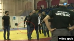 With tempers flaring amid the fierce competition for spots on the country's 2016 Olympic wrestling team, brawls have broken out at several matches -- including a fight during a junior competition in the city of Stary Oskol, where a pistol was pulled out in the ring by a bodyguard of a Chechen wrestler.