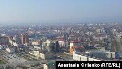 Pamje e një pjese të kryeqytetit Grozni në Çeçeni