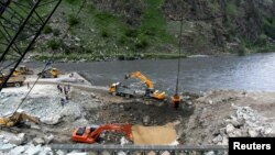 The site of Kishanganga power project in Gurez in the Indian administered Kashmir.
