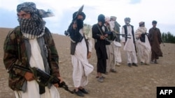 Taliban fighters in Afghanistan in September