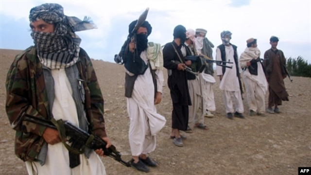 Taliban fighters in Wardak Province, west of Kabul, in September