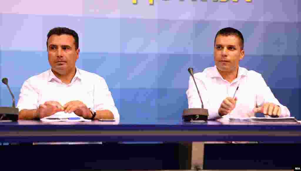 МАКЕДОНИЈА - Претседателот на СДСМ Зоран Заев рече дека пораката на генералниот партиски секретар Љупчо Николовски за ново парламентарно мнозинство била да престанат игрите што се играат во Парламентот.