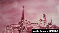 Unul din peisajele în vin ale lui Vasile Botnaru