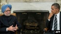 Ҳиндистон Бош вазири М.Сингҳ (ч) ва АҚШ Президенти Б.Обама, Вашингтон, 2013 йил 27 сентябр.