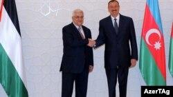 Fələstin lideri Mahmud Abbas və İlham Əliyev