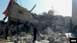 Սիրիա - «Բժիշկներ առանց սահմանների» կազմակերպության հիվանդանոցը ռմբակոծության հետևանքով փլատակների է վերածվել, Մաարաթ ալ-Նուման, Իդլիբ նահանգ, 15-ը փետրվարի, 2016թ․