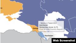 Azerbaijan Nations In Transit Ranking