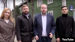 Анна Литвиненко, Виталий Серуканов, Георгий Албуров и Станислав Волков (слева направо)