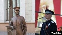 Міністар ўнутраных справаў Ігар Шуневіч і помнік гарадавому ў Менску