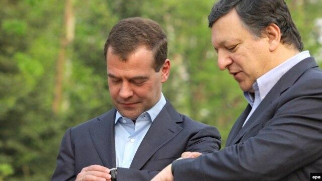 Дмитрий Медведев с председателем Еврокомиссии Хосе Мануэлем Баррозу, 21 мая 2009