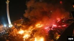 Ուկրաինա- Բախումները Կիևի Անկախության հրապարակում՝ Եվրոմայդանում անցած գիշեր