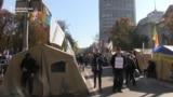 Protesters Remain Camped Outside Ukrainian Parliament