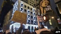 Protest protiv izbora Trumpa za novog predsjednika SAD, New York