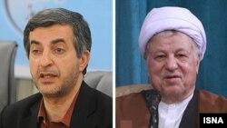 Президенттик шайлоого катышуусуна тыюу салынган Рахим Машаи жана Акбар Хашеми Рафсанжани.