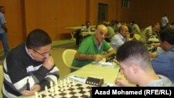 جانب من منافسات بطولة العراق في الشطرنج المقامة في السليمانية