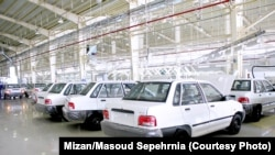 """Pride"" the cheapest Saipa model seen in this factory photo costs around $3,500."