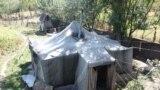 ომით დაზარალებული ოჯახის საცხოვრებელი კონფლიქტის ზონის ერთ-ერთ სოფელში