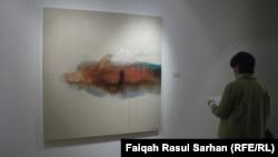 جانب من اخر معرض لفنان رافع الناصري. عمان تشرين الثاني 2013