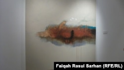 لوحة للراحل رافع الناصري من آخر معرض له في عمان (تشرين الثاني 2013)