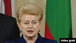 Президент Литвы Даля Грибаускайте.