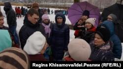Акция протеста в Осиново. 7 апреля