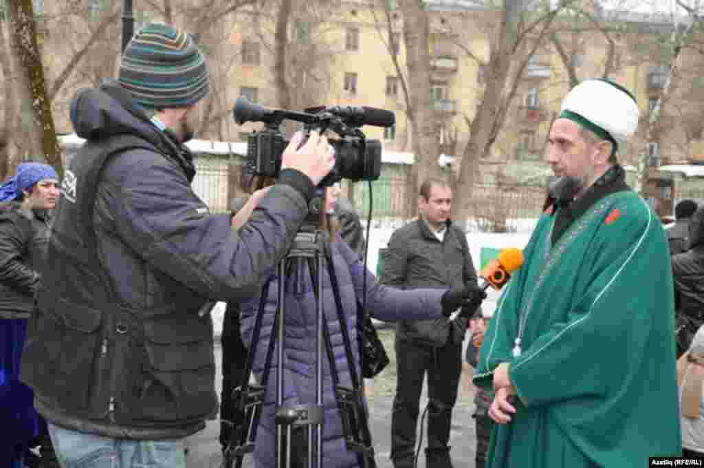 Мөфти Талип хәзрәт Яруллин телекомпаниягә дә әңгәмә бирде
