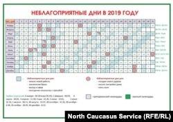 Календарь, авторство которого приписывают дагестанскому муфтияту