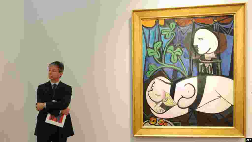 "Pablo Picasso's ""Nude, Green Leaves and Bust"" (1932) held the previous auction record. It was sold at Christie's in New York for more than $106 million in 2010."