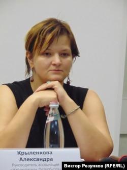 "Координатор организации ""Наблюдатели Петербурга"" Александра Крыленкова"