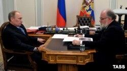 Владимир Путин и Владимир Чуров