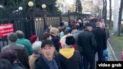 Как голосуют в Бишкеке на выборах президента России