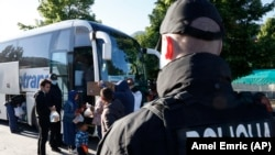 Ndalimi i autobusëve me emigrantë, Sarajevë 18 Maj 2018