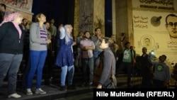 Наразылық білдіріп тұрған египеттік журналистер. Каир, 28 қараша 2013 жыл. (Көрнекі сурет)