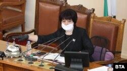 Председателката на Народното събрание Цвета Караянчева