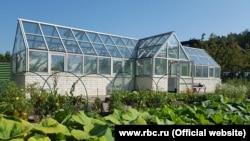 Вячеслав Володиннің жер телімінде орналасқан жылыжай.