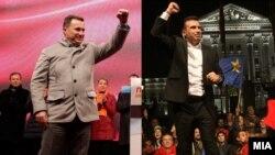Лидерот на ВМРО-ДПМНЕ Никола Груевски и лидерот на СДСМ Зоран Заев.