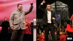 Nikola Gruevski i Zoran Zaev tokom kampanje 2016.