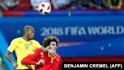 Türkmen prezidentiniň tomaşa eden futbol ýaryşy. Kazan, 6-njy iýul, 2018.