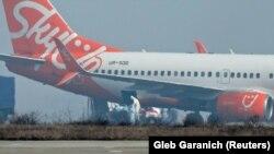 Самолёт с эвакуированными из Китая в аэропорту Харькова, 20 февраля 2020 года.