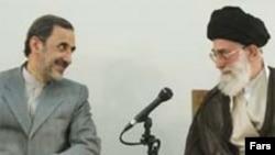 Ali Akbar Velayati (left) with Supreme Leader Ayatollah Ali Khamenei