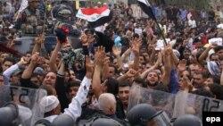 احدى المظاهرات الاحتجاجية في البصرة