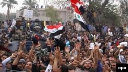 مشهد من مظاهرة 25 شباط في البصرة